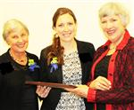 Linda Bailey, Allayn Beck and Suzanne Kerlin AAUW Award